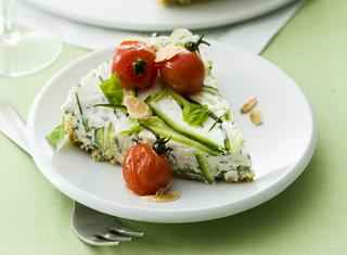 Cheesecake salato con zucchine e formaggio spalmabile