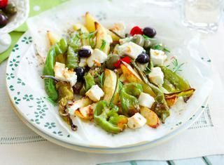 Feta, olive, friggitelli