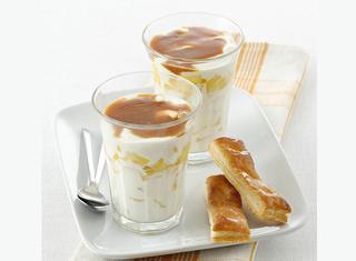 Yogurt con crema mou veloce