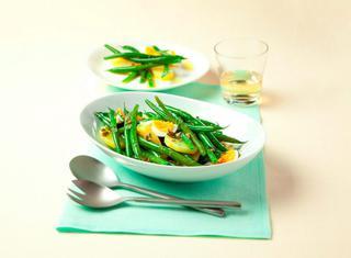Insalata di fagiolini, patate e uova