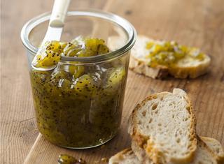 Marmellata di kiwi, lime e zenzero