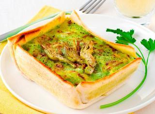 lasagne con carciofi e besciamella