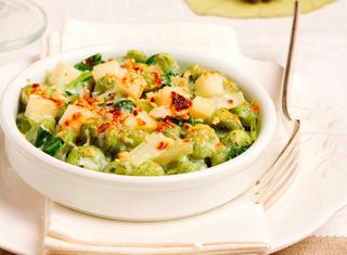 Gnocchi verdi con gorgonzola e pere