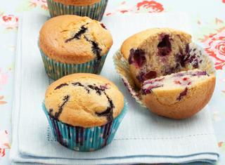 Muffin allo yogurt e mirtilli
