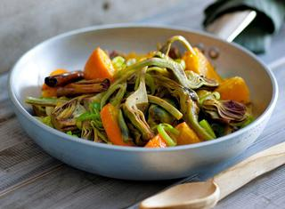 Carciofi light con agrumi e spezie