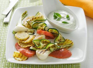 Verdure alla griglia con salsa light