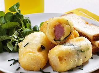 Antipasti fritti al prosciutto