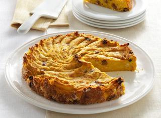 Torta di zucca gialla e patate dolci