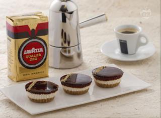 Mini cheesecake al caffè