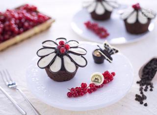 Cupcake fiore di cioccolato
