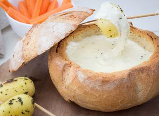 Pagnotta con formaggio fuso
