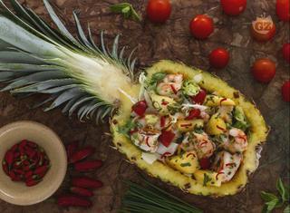 Ricetta: insalata di gamberi e ananas
