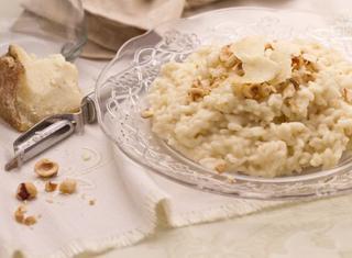 Ricetta: risotto con nocciole e Castelmagno