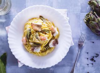 Ricetta: spaghetti scorfano e carciofi