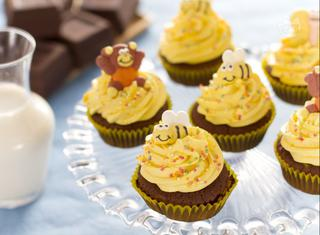 Cupcake al miele decorati