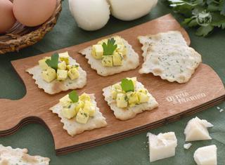 Sfoglie alle olive con cubetti di frittata