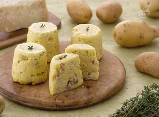 Flan di patate pancetta e timo
