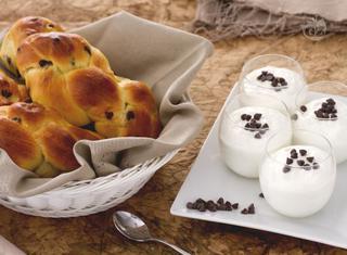 Briochine allo yogurt con gocce di cioccolato