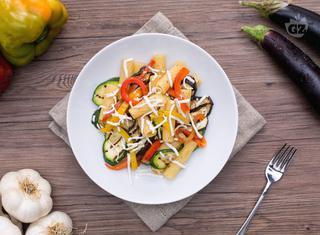 Pasta con verdure grigliate