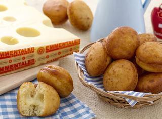 Krapfen salati con patate e Emmentaler