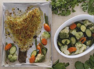 Come fare il rombo gratinato alle verdure