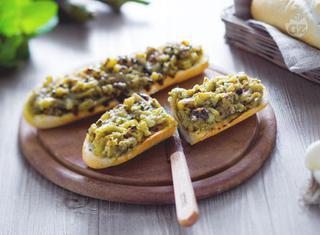 Barchette di melanzane grigliate