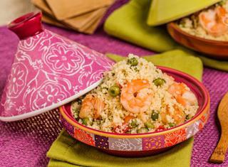 Ricetta: Couscous con piselli e gamberi