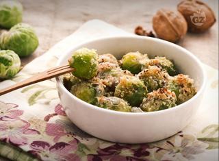 Ricetta: cavoletti di Bruxelles noci e gorgonzola