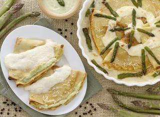 Ricetta: crepes alla crema di asparagi