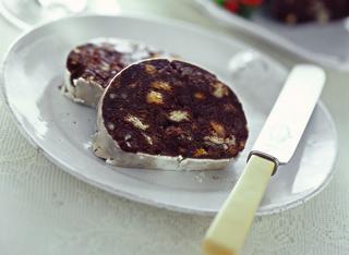Salame di cioccolato al panettone