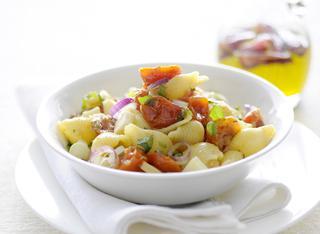 Pasta affumicata con pomodorini arrosto