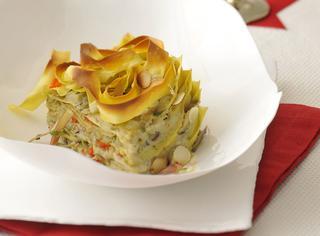 Pasta al forno con carciofi e granseola