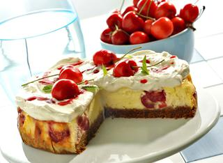 Cheesecake a base cotta