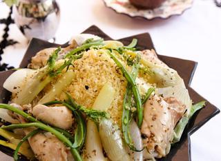 Ricetta: cuscus con pollo e cipollotti