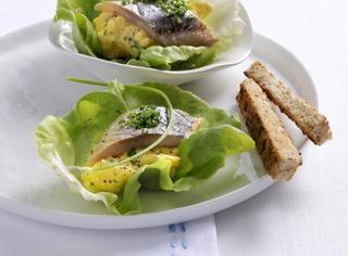 Aringa e uova strapazzate
