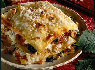 Ricetta: lasagne con bietole, nocciole e speck