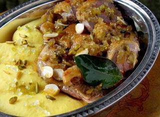 Ricetta: anatra in salsa di cedro e pistacchi