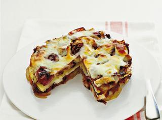 Tortino con patate e formaggio