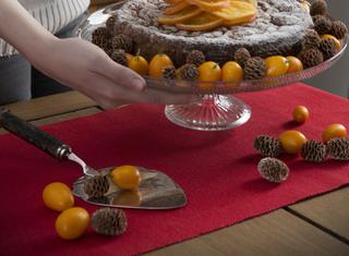 Torta morbida di arancia, nocciole e cioccolato