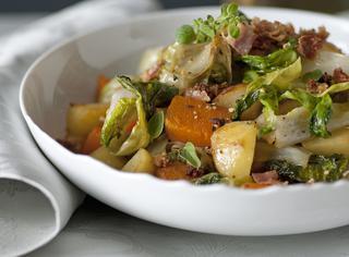 Padellata con zucca e patate in agrodolce