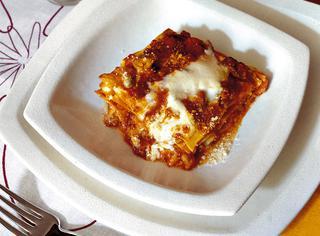 Lasagne con ragù di carni miste