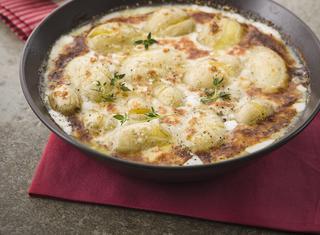 Gratin di patate e gorgonzola dolce