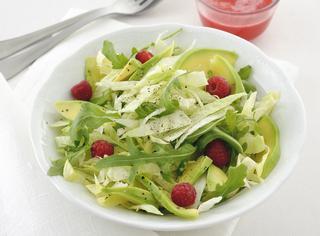 Ricetta: insalata con avocado e lamponi