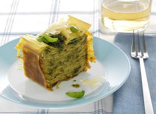 Sformato di lasagne al pesto