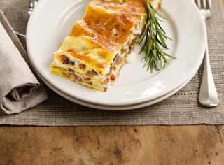Lasagne al ragù bianco d'anatra