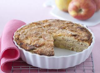 Il dolce gratin di pane e mele
