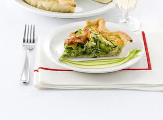 Quiche con zucchine e pancetta croccante
