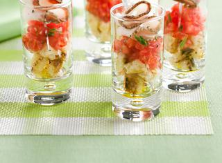 La bruschetta in bicchierino con lardo di Colonnata