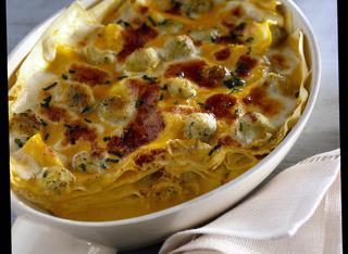 Ricetta: lasagne con zucca e polpettine