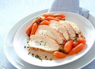 Petto di pollo ripieno e carotine